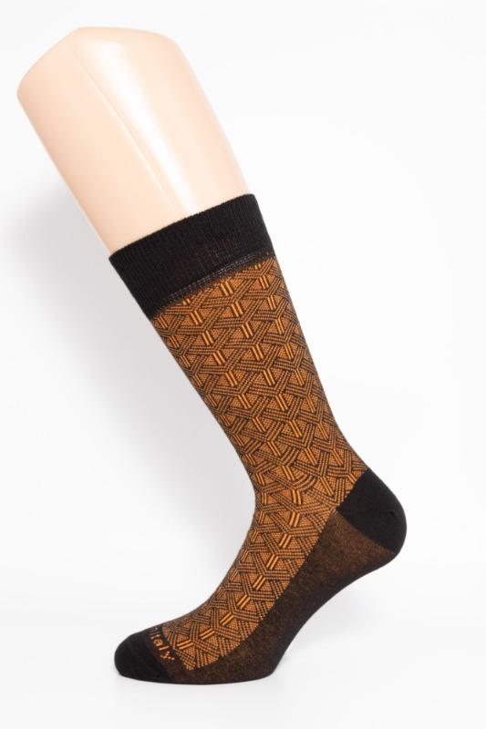calza-corta-links-nera-e-arancio