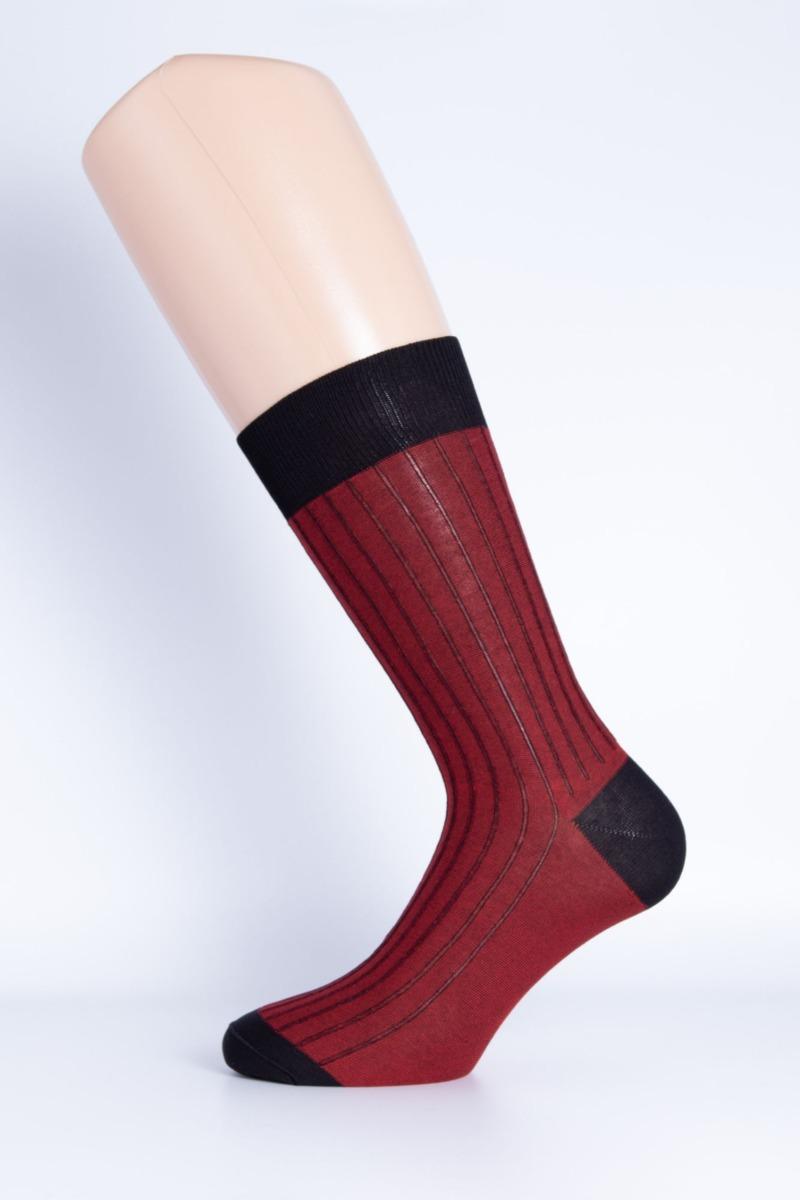calza-corta-double-face-nero-e-rosso